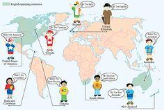 ENGLISH KIDS FUN: English speaking countries