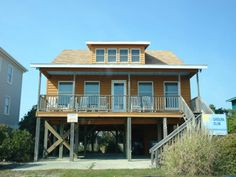 Holden Beach, NC - Carolina Sun 115 OBE a 4 Bedroom Boulevard / Second Row Rental House in Holden each, part of the Brunswick Beaches of North Carolina. Includes Hi-Speed Internet