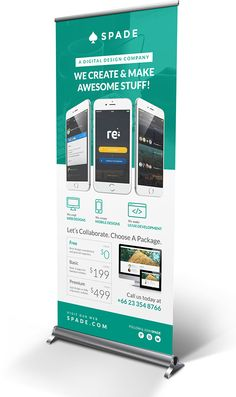 Design Agency/Studio Services Roll-up Banner on Behance