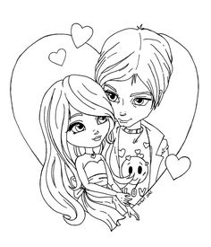 Part of the Holidays and Special occasions Cutie Pie Serie This is the lineart use for the 2012 Valentine Coloring Constest of For more info on how to enter the contest and prizes, click here: To s...