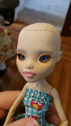 Materials: Glass eyes (usually 8 or 10MM), sticky tack, tweezers. Your doll has been fully painted, and she's looking good… except that she continues to stare into the abyss of your soul with...