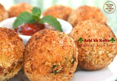 No Fry Taro-root Croquettes is a healthy version of the deep fried Taro-root croquettes prepared in Appe pan. Enjoy these flavored croquettes guilt free. Taro Recipes, Asian Recipes, Gourmet Recipes, Ethnic Recipes, Clean Eating Snacks, Healthy Eating, Taro Root, Indian Appetizers, Chaat Masala