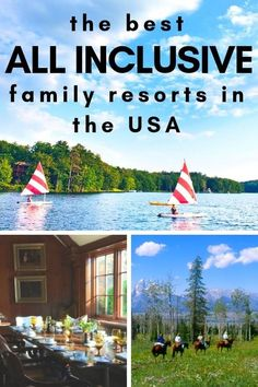 No passport? No problem! We tell you the best all inclusive famly resorts in the USA: dude ranches, beaches, farms, and historic grand hotels.
