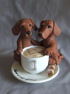 Dachshund Cup of Love by Laurie Valko