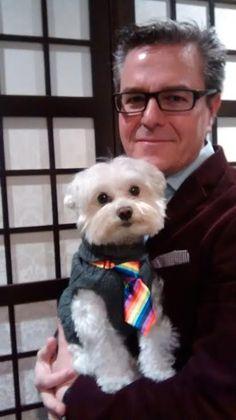 Max con corbata, super elegante para celebrar la cena de Navidad