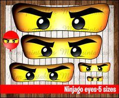 Druckbare geburtstag spiel lego ninjago maske von for Ninjago zimmer deko