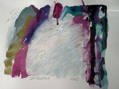Kristina Botha ARTwork: Übermalte Lyrik II. / 2015