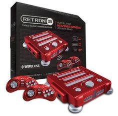 Retron 3 3in1 Super Nintendo NES SNES Sega Genesis Game Console - Red #Hyperkin