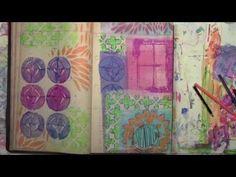 Art Journal Play with Stencils by Carolyn Dube - YouTube Stencils by StencilGirl