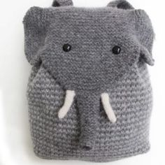 Baby Knitting Patterns Yarn This most adorable elephant backpack is knitted. You can see him at morehous … Knitting Kits, Knitting For Kids, Knitting Needles, Knitting Projects, Baby Knitting, Crochet Projects, Knitting Patterns, Crochet Patterns, Diy Projects
