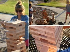 Lifesize outdoor games for the family -- Jenga, Angry Birds and more!