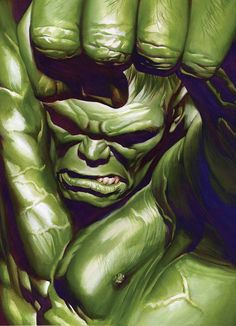 Hulk by Alex Ross.One of the best personal images of this amazing character… Comic Book Artists, Comic Book Characters, Comic Book Heroes, Marvel Characters, Comic Artist, Comic Character, Comic Books Art, Hulk Marvel, Marvel Comics Art