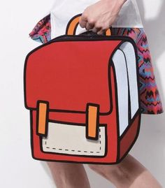 b5cc2390a5cb Red School Style - 2D Bag