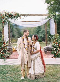 Indian Fusion Wedding, Indian Bridal, Spring Wedding, Dream Wedding, Wedding Day, Clifton Inn, Indian American Weddings, Mandap Design, Orange Wedding Flowers