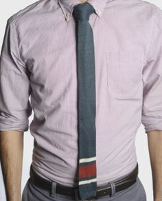 Hand-knit tie from Peru for him!