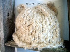 Hand Knit Baby Hat Fuzzy Wuzzy Bear by mimimariedesigns on Etsy, $16.00