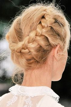bun-braid. i think you could do this even if your hair was on the short side!