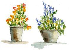watercolor flowers video tutorial