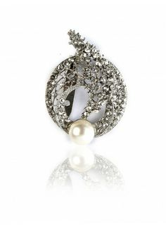 O Broaching - Buy Crystal Encrusted Broach Online in India