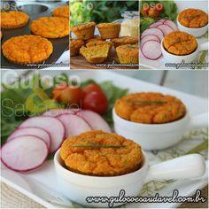 Bora preparar de um simples cuscuz uns deliciosos Muffins de Cuscuz com Ricota para o #lanche!  #Receita aqui: http://www.gulosoesaudavel.com.br/2015/08/14/muffins-cuscuz-ricota/