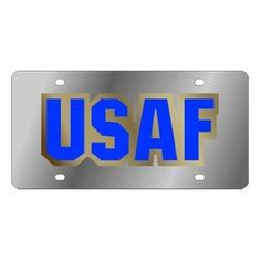 US Air Force Stainless Steel License Plate