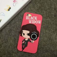 Black Widow Silicon iPhone Cover