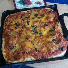 Deep Dish Cast Iron Pizza