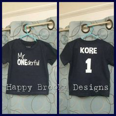 Mr ONEderful 1st Birthday Shirt Front And Back By HappyBrooke Boy Gifts One