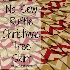 The Crafty Blog Stalker: No Sew Ruffle Christmas Tree Skirt