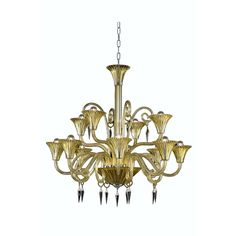 "Elegant Lighting 8812D37YW/SS Symphony Collection Dining Room Hanging Fixture D37"" x H37"" Yellow Finish (Swarovski Elements Crystal Clear)"