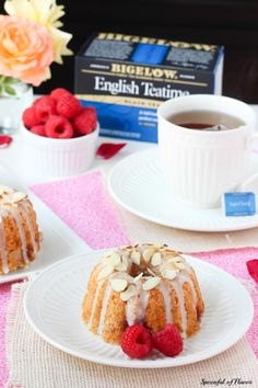 Raspberry Almond Coffee Cakes - perfect for serving with your #Bigelow afternoon tea!