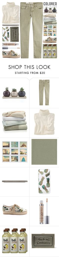 """""""Spring Trend:Colored Denim"""" by grozdana-v ❤ liked on Polyvore featuring Current/Elliott, Kassatex, Woolrich, Sonix, J/Slides, Urban Decay, Anya Hindmarch and coloredjeans"""