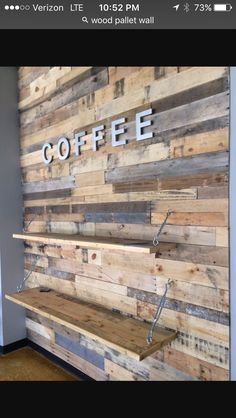 Christmas Diy Wood Pallet Accent Wall With Diy Wood Pallet Accent Wall Wood… - accent wall Pallet Accent Wall, Diy Pallet Wall, Pallet Walls, Diy Pallet Projects, Pallet Wall Shelves, Wood Accent Walls, Pallet Wall Bedroom, Accent Wall In Kitchen, Pallet Bench