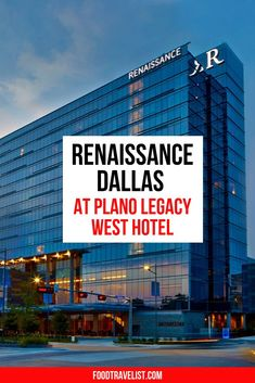 Perfect for a girls getaway, romantic weekend or just a weekend getaway to unwind and relax the Renaissance Dallas at Plano Legacy West hotel is just right for any occasion. Relax in the gorgeous and lively lobby bar, eat at OMA Restaurant or take a dip in the rooftop swimming pool. Whatever your heart desires you can find at the Renaissance. Nearby shopping and endless choices of great restaurants and entertainment make this a must-stay at spot. #VisitPlano #LuxuryHotels