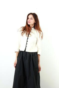 Vintage Short Kimono Style Women Jacket / Minimalist Jacket /