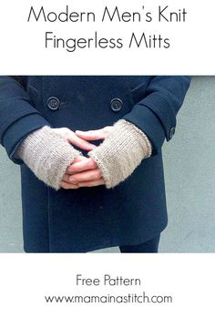 Mens Knit Mitts