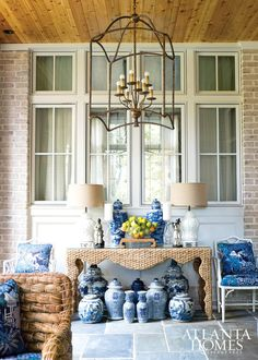 Veranda | Design by Lance Jackson & David Ecton, Parker Kennedy Living // Photographed by Erica George Dines | Atlanta Homes & Lifestyles