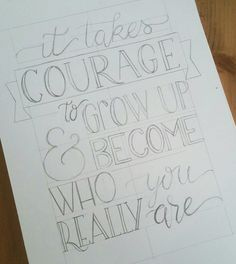 Sketch for my handlettering in my Skillshare class www.patchoeli.nl