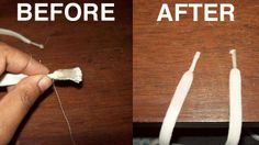 """Aglet repair: """"Start by dabbing the frayed shoe lace tip in the glue, and then wrap a small piece of thread tightly around it. Let the thread dry for ten minutes, and then coat it in toothpaste. The toothpaste seals everything together and according to lllshreelll it's a pretty durable fix. If you're looking for something a little more classy, the old heat shrink tubing fix ( http://lifehacker.com/221060/fix-frayed-shoelaces ) is always another option."""""""
