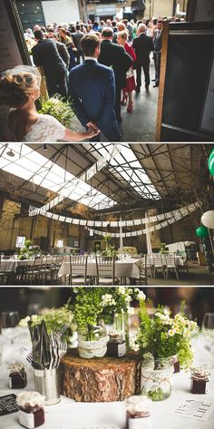Green Themed Wedding At Camp And Furnace In Liverpool With Bride In Short 50s Style Gown By Heavenly Vintage Brides And Rachel Simpson Eva Shoes With Bridesmaids In Green Polka Dot 50s Style Dresses And Images From S6 Photography 0006 Bringing The Outdoors In.