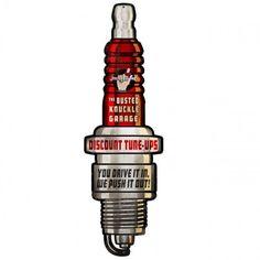 Busted Knuckle - Spark Plug from VintroSigns Motor Logo, Logos Vintage, Engine Tattoo, Mechanic Tattoo, Mug Decorating, Man Cave Gifts, Vintage Metal Signs, Metal Shop, Classic Monsters