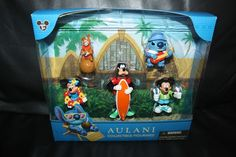 NEW Disney Aulani Collectible Figurines Mickey Minnie Goofy Chip & Dale Stitch