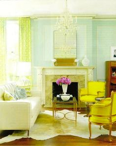 The flowers make this ethereal sitting room soar. Daily Crush