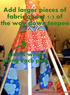How to Make a Collapsible No Sew Teepee - Mommy Is Coo Coo