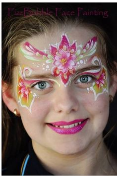 Flower fairy face paint