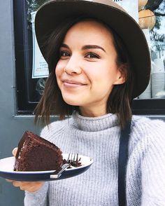 Chocolate cake for breakfast!!! #livingmybestlife  by ingridnilsen #travelvibes