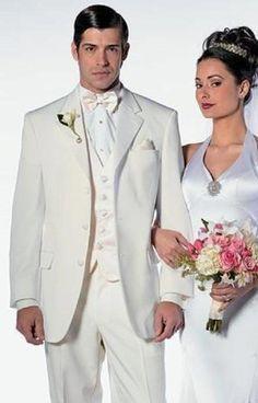 IvoryOff White Cream Men's Notch Laple Tuxedo single breast Tuxedo Dress Suit