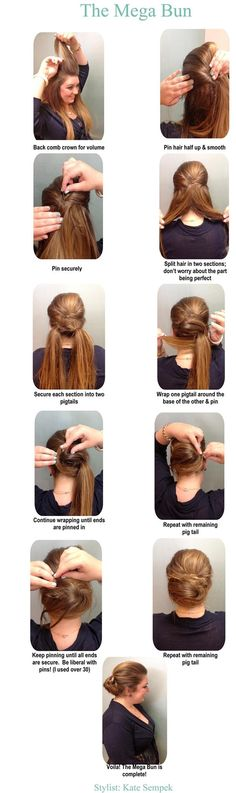 Mega Bun Photo Tutorial