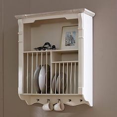 from amazon.co.uk · plate rack & Wall Mounted Antique French Plate Rack   Inside Outside   Pinterest ...