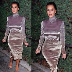 Le look métallique de la sublime Kim Kardashian, on adhére ?